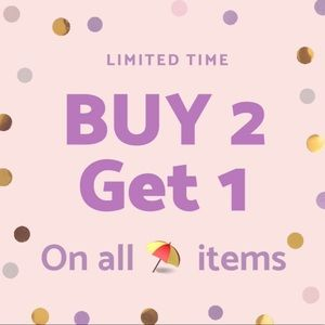 Look for ⛱ icon for BUY 2 GET 1 FREE